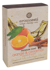 Aromaesti Handgemaakte olijfzeep met sinaasappel & kaneel