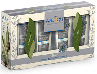 Apollon Shower & Shave to Go Kit
