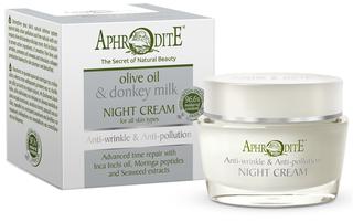 Aphrodite Anti-Rimpel Ezelinnenmelk Nachtcrème