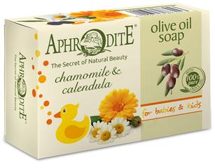 Aphrodite Milde Olijfoliezeep voor Baby's en Kinderen