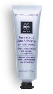 face scrub brightening apivita