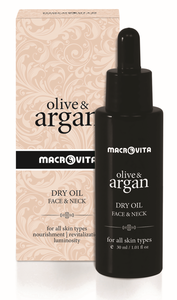 face neck dry oil olive & argan macrovita