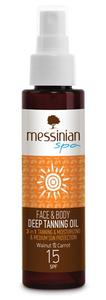 deep tanning oil spf15 messinian spa